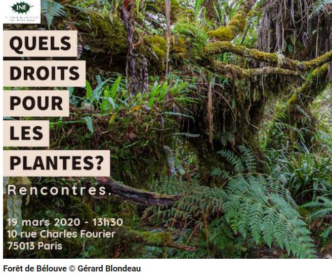 Invitation rencontres JNE : quels droits pour les plantes ?