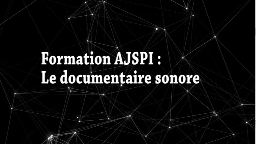 Formation docu sonore