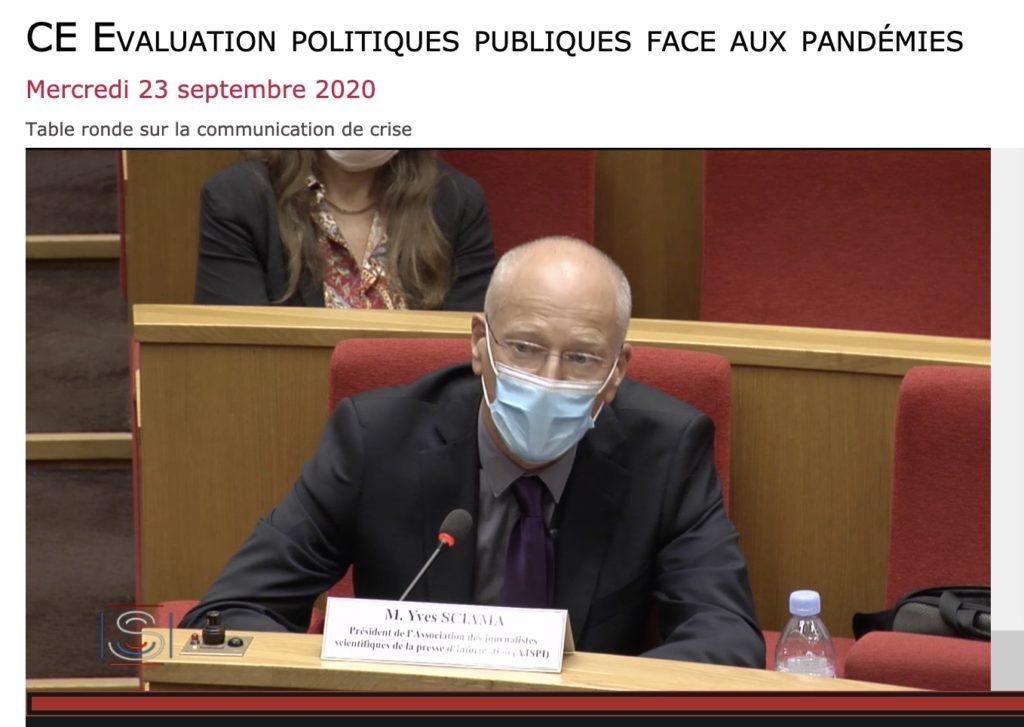 Audition de l'AJSPI au Sénat (commission d'enquête : Evaluation politiques publiques face aux pandémies)