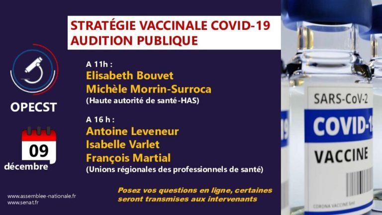 Stratégie vaccinale contre le Covid-19 : série d'auditions publiques