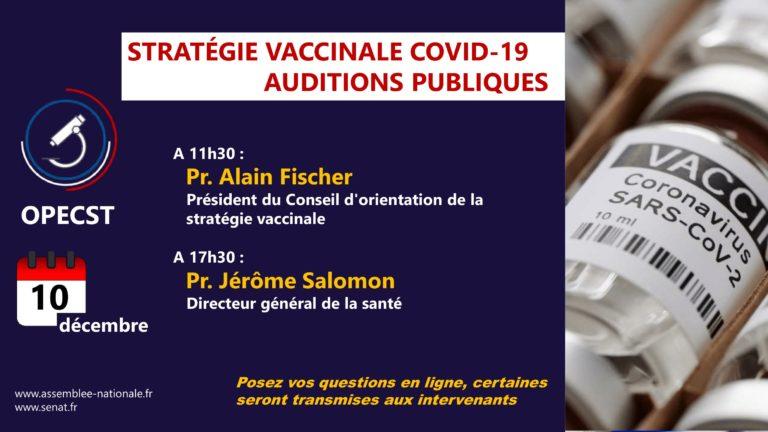 Stratégie vaccinale contre le Covid-19 : auditions des Prs Fischer et Salomon