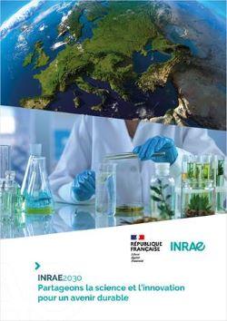 « INRAE2030 » – Priorités stratégiques d'INRAE pour les 10 prochaines années