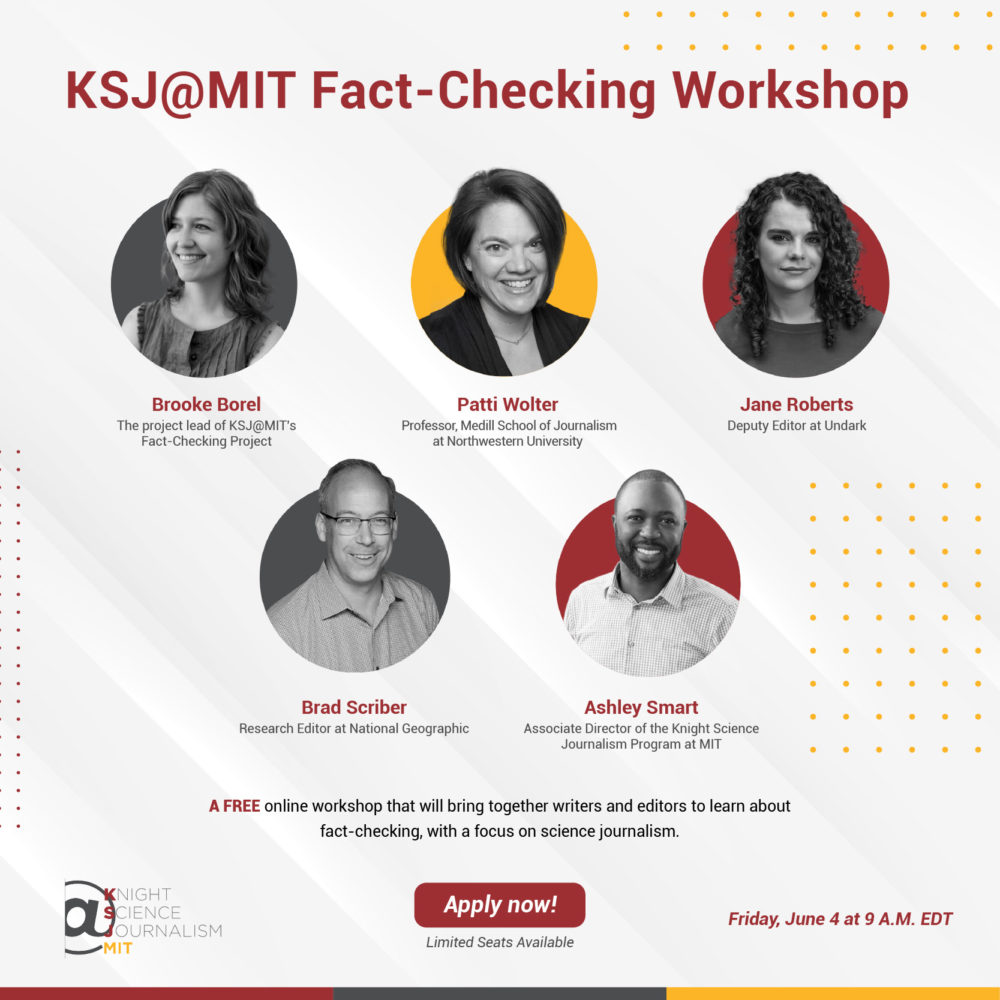 Atelier fact-checking avec le Knight Science Journalism du MIT