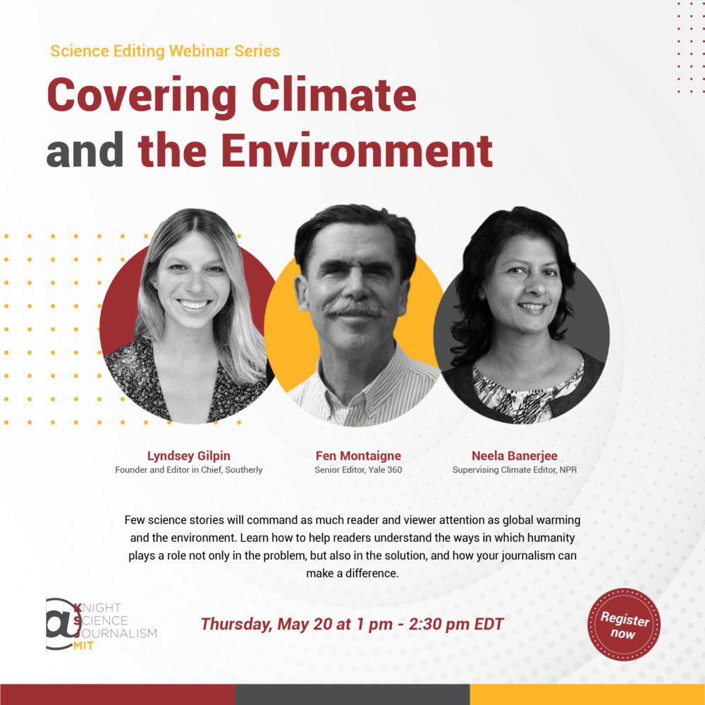 Webinaire du Knight Science Journalism du MIT sur le climat et l'environnement