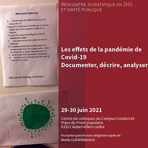 Conférence de presse et colloque - La crise du Covid-19 vue par les sciences humaines et sociales
