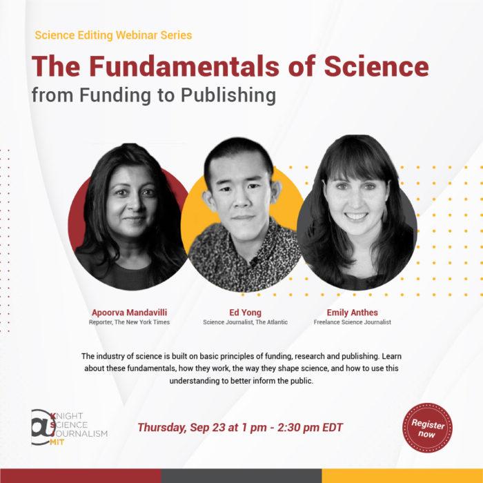 Webinaire du Knight Science Journalism du MIT sur les basiques de la science, du financement à la publication